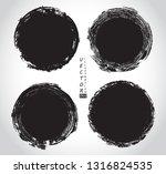 vector grunge circles.grunge... | Shutterstock .eps vector #1316824535