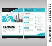 modern business brochure... | Shutterstock .eps vector #1316827832