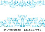 seamless watercolor border with ... | Shutterstock . vector #1316827958