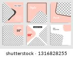 editable square abstract... | Shutterstock .eps vector #1316828255