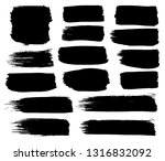 collection of black paint  ink... | Shutterstock .eps vector #1316832092