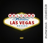 welcome to fabulous las vegas... | Shutterstock .eps vector #131683328