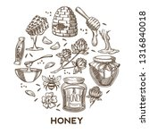 beekeeping and apiary honey... | Shutterstock .eps vector #1316840018