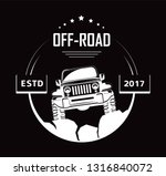 off road 4x4 extreme car club... | Shutterstock .eps vector #1316840072