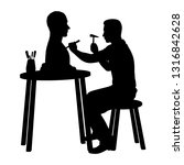 carver while working silhouette ... | Shutterstock .eps vector #1316842628