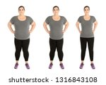 Overweight Woman Before And...