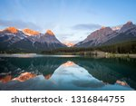 sunset in banff national park.... | Shutterstock . vector #1316844755