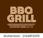 Vector Eco Banner Bbq Grill...