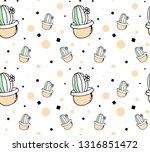 cute hand drawn seamless... | Shutterstock .eps vector #1316851472
