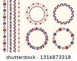 vector vintage decor  ornate... | Shutterstock .eps vector #1316873318