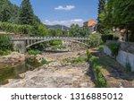 scenery around vals les bains ... | Shutterstock . vector #1316885012