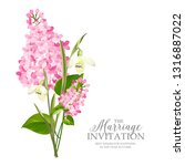 marriage invitation card with... | Shutterstock .eps vector #1316887022