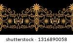 seamless pattern. golden...   Shutterstock . vector #1316890058