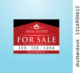 real estate signage  red color... | Shutterstock .eps vector #1316900612