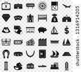 riches icons set. simple style... | Shutterstock .eps vector #1316914205