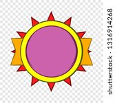 round violet badge icon in... | Shutterstock .eps vector #1316914268