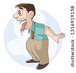 man wants something very...   Shutterstock . vector #1316919158