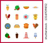 16 delicious icon. vector... | Shutterstock .eps vector #1316939852