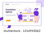 vector flat line translation... | Shutterstock .eps vector #1316943062