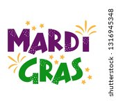 mardi gras purple and green... | Shutterstock .eps vector #1316945348