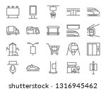out of home media line icon set.... | Shutterstock .eps vector #1316945462