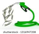 gas pump nozzle and dollar on... | Shutterstock . vector #1316947208