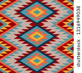 kilim. ethnic geometric... | Shutterstock .eps vector #1316949038