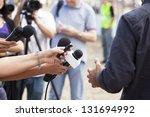 tv interview | Shutterstock . vector #131694992