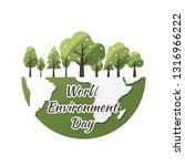 world environment day concept... | Shutterstock .eps vector #1316966222