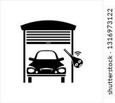 garage shutter icon  garage... | Shutterstock .eps vector #1316973122