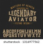 legendary aviator. original... | Shutterstock .eps vector #1316977562