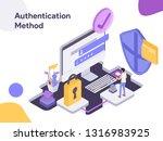online shopping authentication...   Shutterstock .eps vector #1316983925