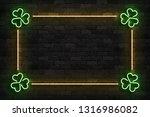 vector realistic isolated neon... | Shutterstock .eps vector #1316986082
