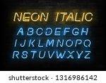 vector realistic isolated neon... | Shutterstock .eps vector #1316986142