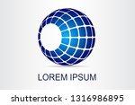 abstract technology logo... | Shutterstock .eps vector #1316986895