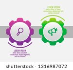 modern vector 3d illustration.... | Shutterstock .eps vector #1316987072
