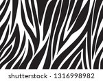 zebra pattern. vector background | Shutterstock .eps vector #1316998982