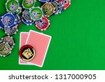 cards in the poker hand with... | Shutterstock . vector #1317000905