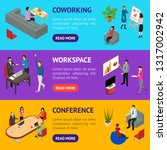 coworking people and equipment... | Shutterstock .eps vector #1317002942