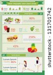 check calorie food healthy... | Shutterstock .eps vector #131701742