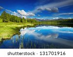 beautiful lake in altai... | Shutterstock . vector #131701916
