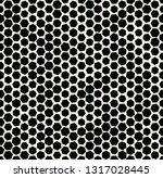 hexagon halftone seamless...   Shutterstock .eps vector #1317028445