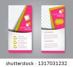 flyer template. vectical banner ... | Shutterstock .eps vector #1317031232