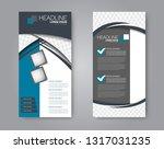 flyer template. vectical banner ... | Shutterstock .eps vector #1317031235