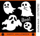 halloween ghost | Shutterstock .eps vector #131703782