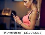 close up of woman using smart... | Shutterstock . vector #1317042338