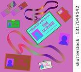 business multicolored geometric ... | Shutterstock .eps vector #1317049142