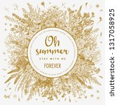 summer frame. rustic floral...   Shutterstock .eps vector #1317058925
