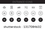 entrance icons set. collection... | Shutterstock .eps vector #1317084632