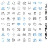 ui icons set. collection of ui... | Shutterstock .eps vector #1317086468